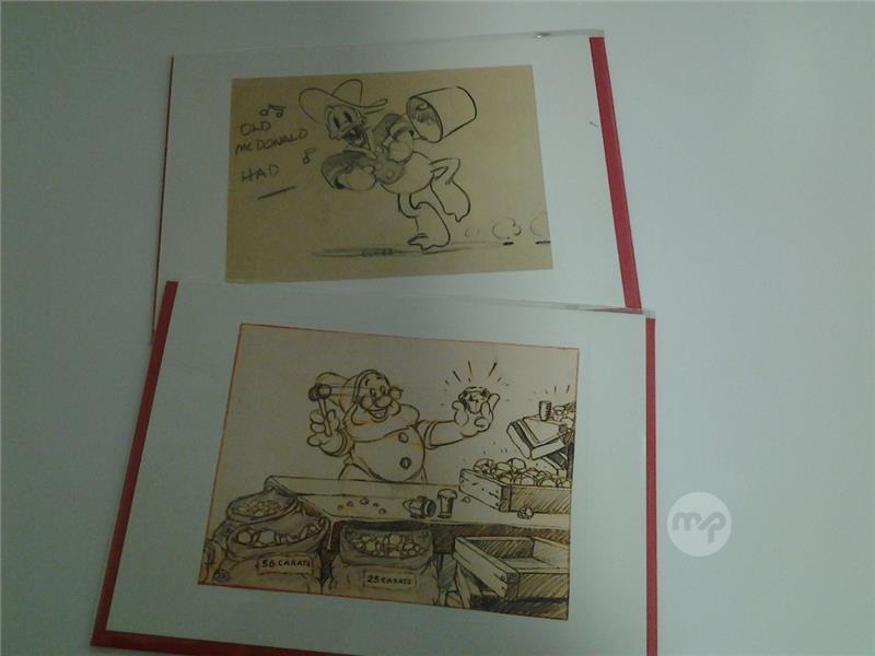 Original Story Sketch Of Donald Duck 1941 Doe 19375euro Both